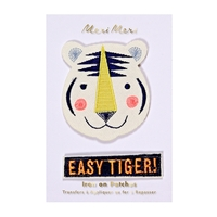 2 écussons brodés thermocollants tigre