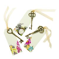6 marque places Alice et 6 clés