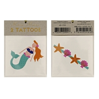 2 tatouages enfant sirène