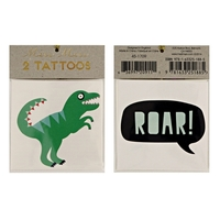 2 tatouages enfant dinosaure