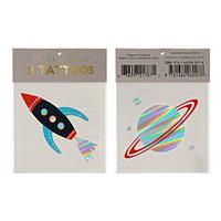2 tatouages enfant espace