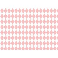 8 sets de table en papier losange rose