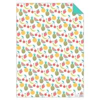 1 feuille de papier cadeau fruit