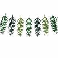 Guirlande feuilles de palmier en papier