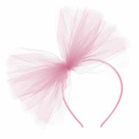 Serre-tête en tulle rose clair