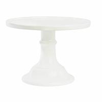Plat à gâteau sur pied porcelaine blanche - diamètre 25 cm