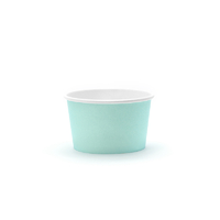 6 petits pot à glace en carton aqua