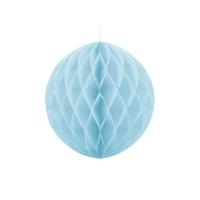 Boule en papier alvéolé bleu clair