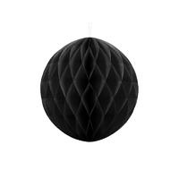Boule en papier alvéolé noir