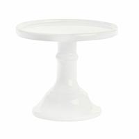 Plat à gâteau blanc sur pied - diamètre 15,5 cm