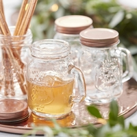 4 mini mugs Mason Jar