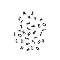 128 lettres et chiffres noirs pour letter board