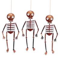 8 suspensions squelette en papier