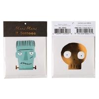 2 tatouages Frankenstein et squelette