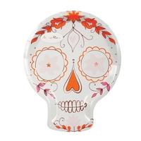 8 assiettes carton crâne mexicain