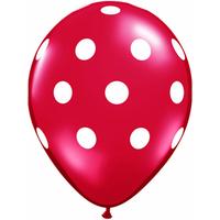 25 ballons latex à pois