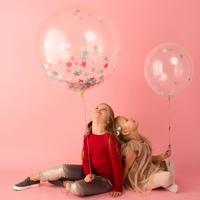 Kit DIY 8 ballons confettis étoiles