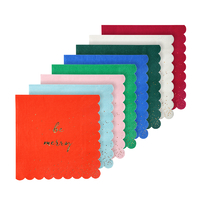 16 serviettes papier Be merry assortiment coloré