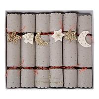 6 crackers de Noël étoile et lune