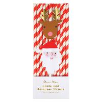 24 pailles papier Noël