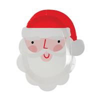12 assiettes dessert carton père Noël