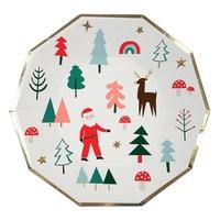 8 assiettes carton Noël