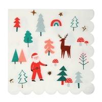 16 serviettes jetables Noël