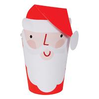 8 gobelets carton père Noel