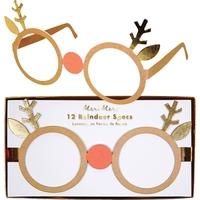 12 lunettes en papier renne