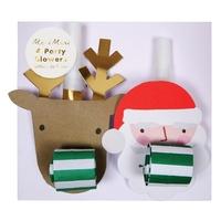 4 sifflets de fête Noël