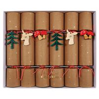 6 crackers Noël animaux de la forêt