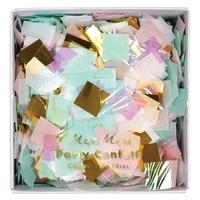Confettis papier de soie assortiment irisé