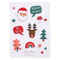 1 planche de stickers 3D Noël