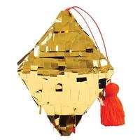 Décoration sapin pinata diamant dorée
