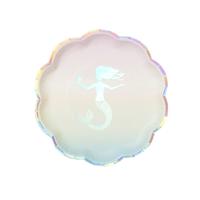 12 assiettes sirène pastel