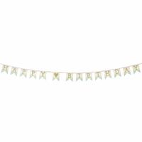 Guirlande anniversaire en papier pastel
