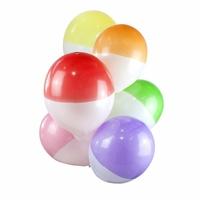 12 ballons de baudruche bicolores