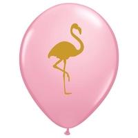 25 ballons de baudruche flamant rose