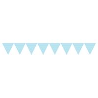 Guirlande fanions bleu clair à pois blanc