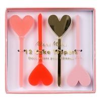 12 décorations gâteau coeur