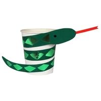 8 gobelets carton serpent