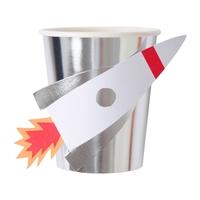 8 gobelets carton fusée