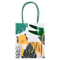 8 sacs cadeaux jungle en papier