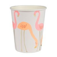 8 gobelets flamant rose