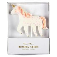 Bougie anniversaire licorne