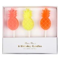 6 bougies anniversaire ananas
