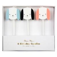 6 bougies anniversaire chien