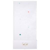 Nappe en papier blanc étoiles multicolores
