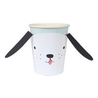 8 gobelets chien