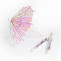 24 piques parasol cocktail irisées